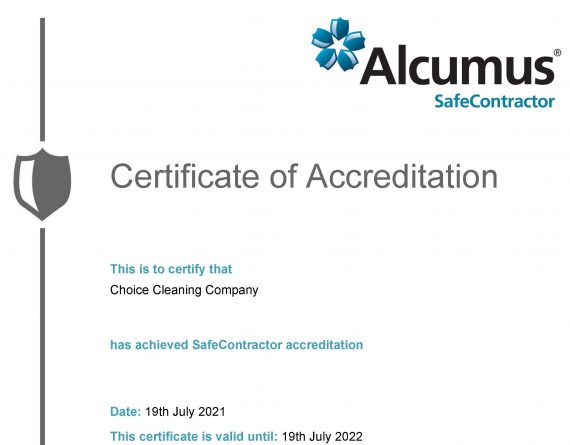 Alcumus SafeContractor Accreditation 2021